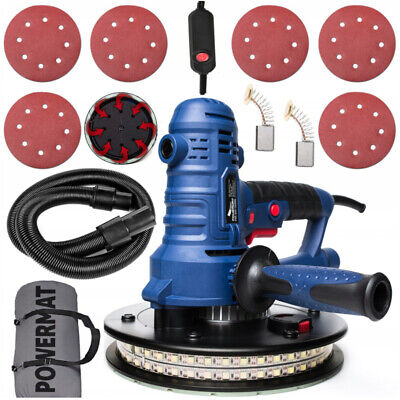Handheld Drywall Plaster Sander For Wall And Ceiling / Led 360° + Accessories