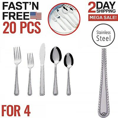Silverware Set Flatware Cutlery Sets for 4 Stainless Steel Knife Fork Spoon
