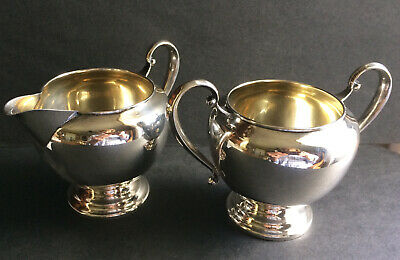 STERLING SILVER SUGAR BOWL & CREAMER  - Watrous Co. - no monogram