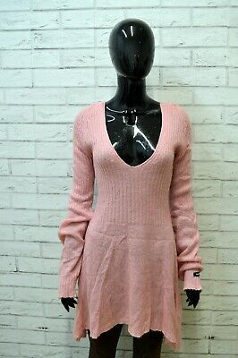 Vestito DENNY ROSE Abito Donna Taglia Size S Woman Dress Tubino Rosa Mohair