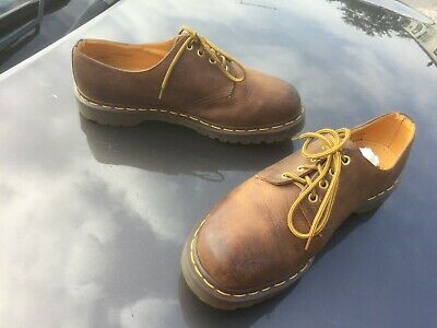 Dr Martens 1561 brown gaucho crazy leather shoes UK 11 EU 46 Made in England