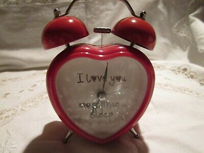 """""""I love you more than sleep""""HEART SHAPED CUTE*ALARM CLOCK with DOUBLE-BELL XMAS?"""