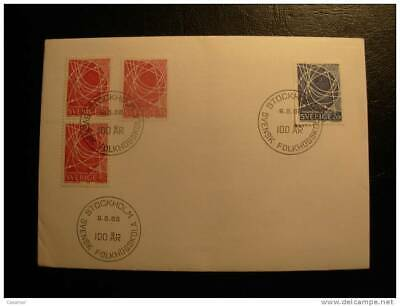 satelites Sweden 1968 Complete Set Fdc Cover