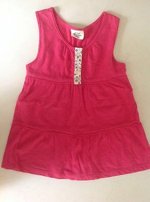 *MINI BODEN* Girls Pink Sleeveless Tiered Tank 5-6 Y