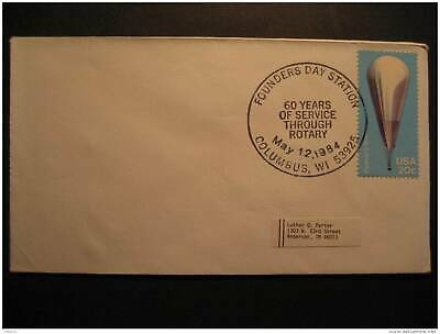 USA Columbus 1984 Rotary Cancel