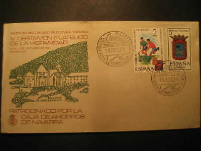 SPAIN Pamplona Navarra Roncesvalles 1971 Event Cancel Colon Columbus Caravel Ame