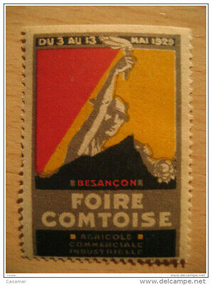 Besançon 1929 Agriculture Industrie Commerce Poster Stamp