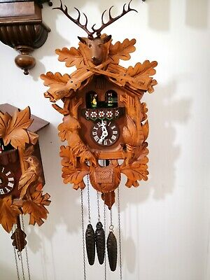 Stunning Antique Musical Cooco Clock Anton Schwab In Good Working Order
