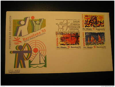 Barcelona 92 1992 Olympic Games Olympics Archery Sailing Volley Volleyball Fdc C