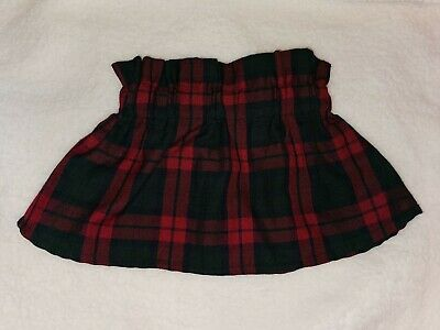 Baby Girl Tartan Skirt Handmade By Baby Haute Couture 9-12 Months