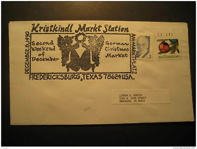 Fredericksburg 1990 German Christmas Market USA Cancel Cover Germany