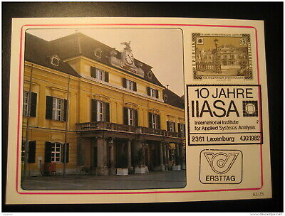 LAXENBURG 1982 Maxi Maximum Card Tower Monument Architecture AUSTRIA Clock Clock