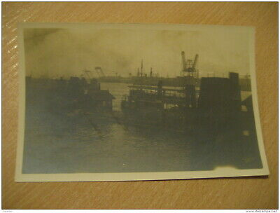 HAMBURG Harbour Post Card Germany
