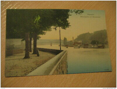 HAMELN Weserpartie Mit Munsterwall Ship Boat River Post Card Lower Saxony German