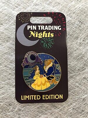 Disney Beauty And The Beast Belle And Beast Pin Trading Nights Pin LE 1000 New