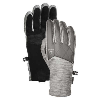 Head Womens Lt Gray Hybrid Sensatec Touchscreen Running Gloves Size Small NWT