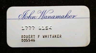 John Wanamaker charge card ♡Free Shipping♡cc254♡ Princess Size