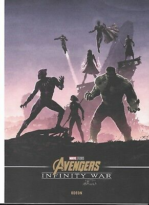 Set of four Avengers: Infinity War, Limited Edition Posters, Odeon