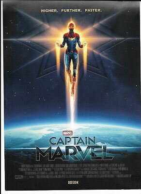 Captain Marvel, Limited Edition Poster, Odeon Exclusive, NEW