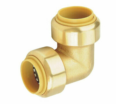 "Brass 1"" Push Fit Sharkbite Style Elbow, DZR, Lead Free, New"