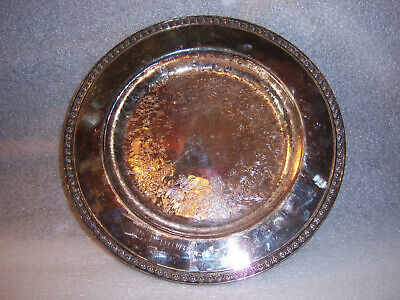 Vintage Wm Rogers Silver Plated Plate 4511