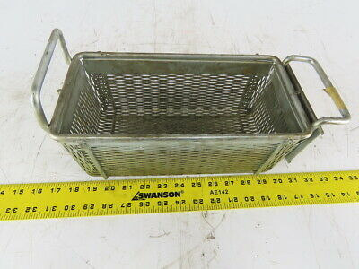 "Rectangular Expanded Metal Parts Washer Dip Basket 5""x10-1/2""x4-1/4"" Deep"