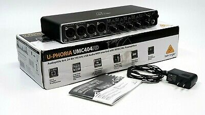Behringer U-Phoria UMC404HD USB Audio Interface With Power Supply & Manual