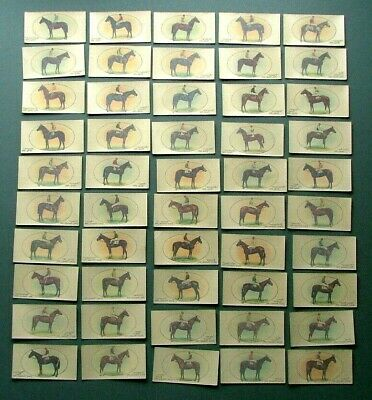 Players 1933 - Derby & Grand National Winners (Transfers) - Full Set Of 50 -Vg