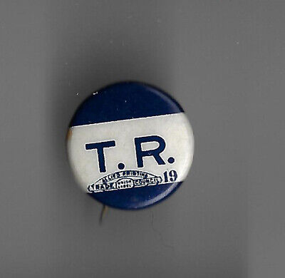 1912 Dinky Pin Teddy Roosevelt's Initials Progressive Party Bull Moose Campaign
