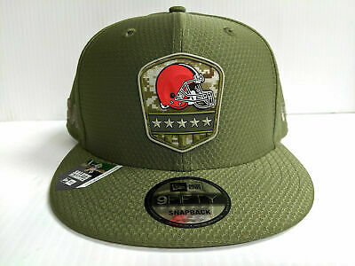 Cleveland Browns Cap New Era 9Fifty Snapback 2019 Salute to Service Hat NFL