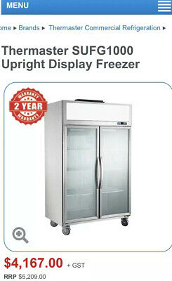 Themaster SUFG1000  LED LIGHT COMMERCIAL UPRIGHT DISPLAY FREEZER RRP$5209