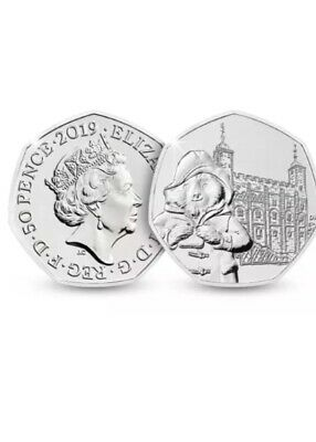UNcirculated 2019 Paddington Bear At Tower Of London 50p Fifty Pence Coin Rare.
