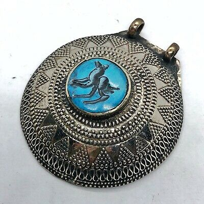 Post Medieval Islamic Large Intaglio Pendant Middle Eastern Arabic Antique Old