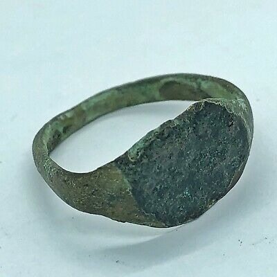 Ancient Roman Empire Copper Ring Fragment Artifact Authentic Antiquity Old