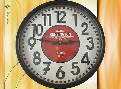Novelty Wall Clock Iron Battery round Gift Aesthetics Rarity Sublime +