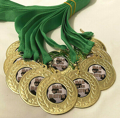 PACK OF 20 GALAXY FOOTBALL MAN OF THE MATCH MEDALS FREE RIBBONS AM1036.01