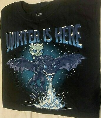 Funko Pop Game of Thrones: Icy Viserion Boxlunch Exclusive Shirt Only Sz S-L