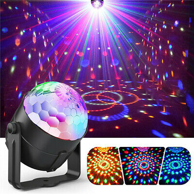 Sound Activated Disco Lights Rotating Ball Lights 3W RGB LED Stage Magical Light