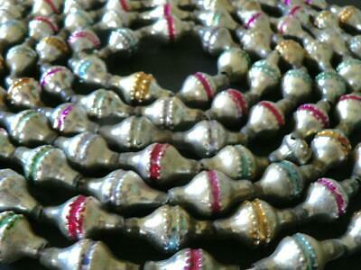 """Wow ANTIQUE 102"""" VICTORIAN GERMANY SILVER MIDDLE STRIPE CHRISTMAS GARLAND"""