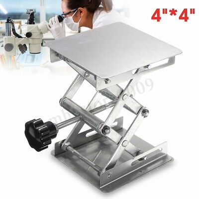 4'' 100*100mm Stainless Steel Lab Stand Table Scissor Lift laboratory Jiffy