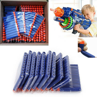 500pcs Toy Gun Soft Bullets Hollow Hole Head Refill Darts for Kid Children