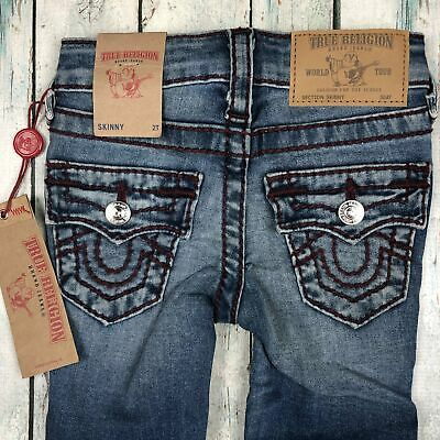 True Religion Big T Skinny - Freckle Wash Jeans- Size 2T