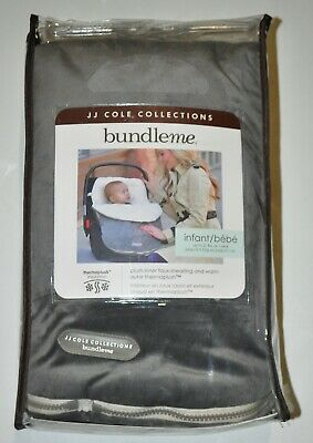 JJ Cole Collections Bundleme Infant Baby Gray Cream Car Seat Cold Weather Cover