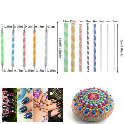 16pcs Mandala Dotting Tool for Rock Painting Kit Dot Art Rock Pen Paint Stenc_vi