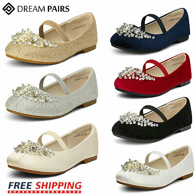 DREAM PAIRS Kids Girls Casual Mary Jane School Flats Shoes Princess Dress Shoes