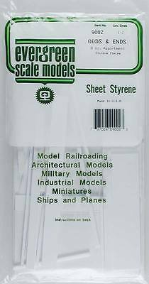 Evergreen Assortment of Styrene White Pieces - Odds & Ends