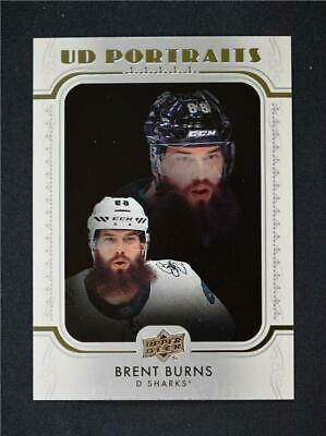 2019-20 UD Series 1 Portraits #P-37 Brent Burns - San Jose Sharks