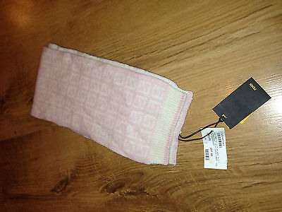 girls 3/9 months FENDI cashmere/wool pale pink scarf tagged £97.00 100% authenti