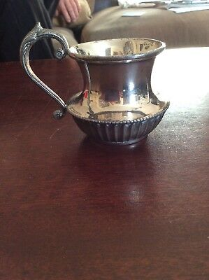 Silver Plate Jug By Potter Sheffield A1 2 Inch High X 3.1/2 Inch Wide