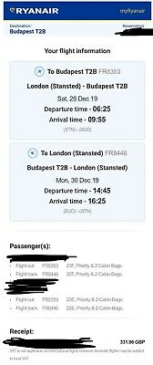 2x Ryanair Flights London Stansted - Budapest and Return